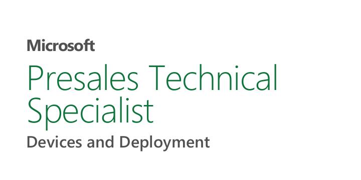 Microsoft Presales Technical Specialist